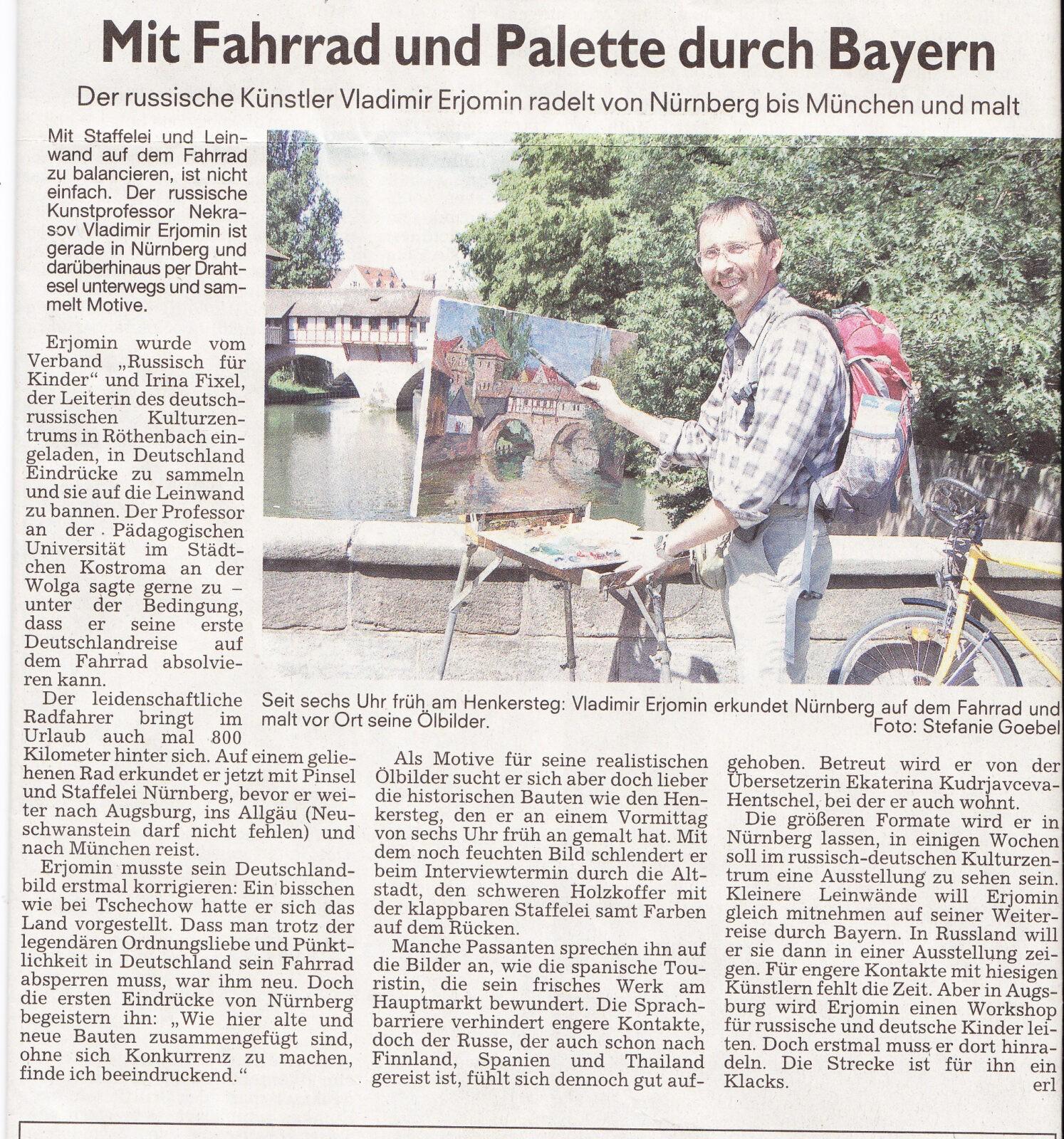 """""""Nürnberger Nachrichten"""", Juni 2009"""
